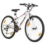 Multibrand-PROBIKE-Tempo-24-Pollici-279mm-Mountain-Bike-18-velocit-Unisex-Parafango-Anteriore-Posteriore-Bianco-Lucido
