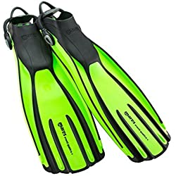 Mares Fins Avanti Quattro Plus Flipper with Strap - Lime/LM, X-Large by Mares