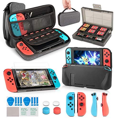 InnoAura 11 1 Kit accesorios Nintendo Switch, funda