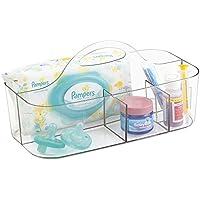 mDesign Canastilla con 6 compartimentos – Moderna caja organizadora de accesorios para bebes, ideal para