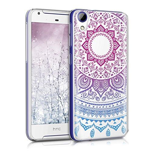 kwmobile HTC Desire 628 dual SIM Hülle - Handyhülle für HTC Desire 628 dual SIM - Handy Case in Blau Pink Transparent