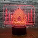 Muslim Temple Castle 7 Bunte USB 3D LED Lampe Schlafzimmer Büro Dekoration Schreibtisch Tischlampe...