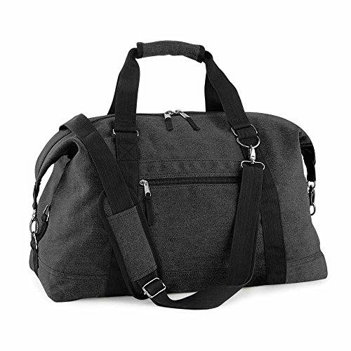 Bagbase - sac de voyage toile VINTAGE CANVAS WEEKENDER - BG650 - coloris noir