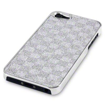 Skin Handytasche Case Etui Hülle für Apple iPhone 5 Silber Disco Bild