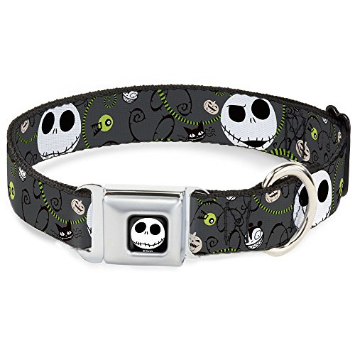 disney-nbc-jack-expressions-halloween-elements-gray-clip-dog-collar-1-fits-15-26-neck-multicolor-by-