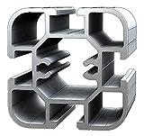 Aluminium T-Nuten Ständerprofil PS50, vierkant,10 Stangen, 3m/Stange