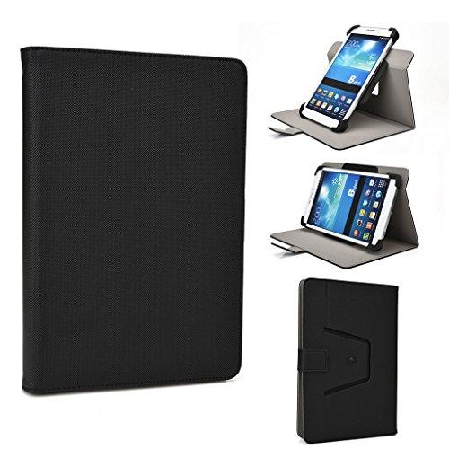 Kroo 360Rotation Premium Qualität PU Leder Ständer Schutzhülle Passt Android-Tablets für Allview Viva Q7Life schwarz schwarz