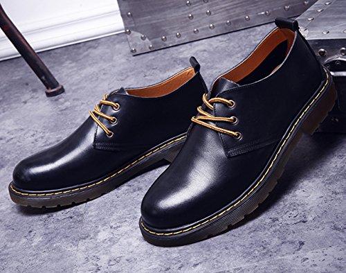 EOZY Richelieu à Lacet Homme En Cuir Pu Chaussure De Ville Oxford Derby Style Anglais Casual Noir
