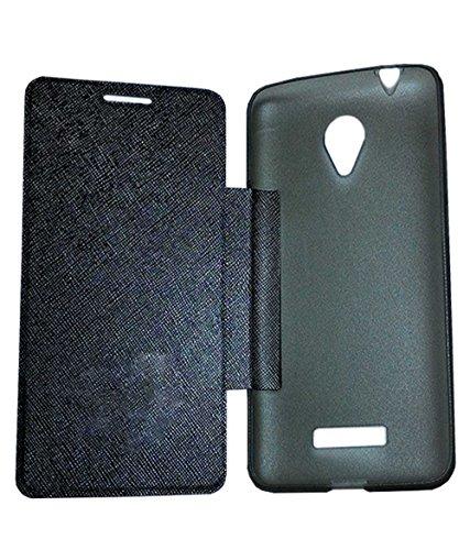 TBZ Flip Cover Case for Micromax Canvas Mega Q417 -Black