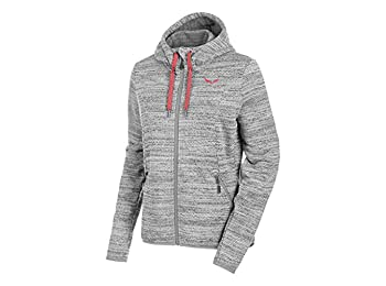 Salewa Fanes Pl W Fz Hdy - Sweatshirt for Woman, color Grey, size 38/32