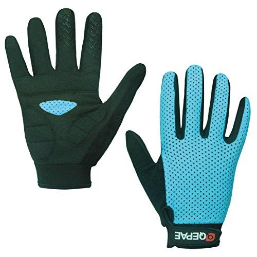 Lerway Anti-Rutsch Outdoor Hände Handschuhe Breath Weich Vollfinger MTB Handschuh Fahrradhandschuhe für Radfahren,Fahrrad Sports (Blau, M) (Reflektierende Handschuhe Radfahren)