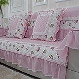 cuatro cojines de sofá/El estilo del cojín de sofá moderno de continental anti-deslizamiento-simple/ sofá toalla-E 80x160cm(31x63inch)