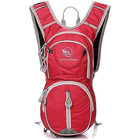 MaMaison007 Bolsa de 20L Unisex montar bicicleta mochila para agua - rojo