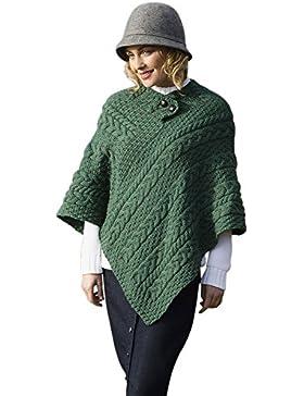 Señoras lana Poncho irlandés
