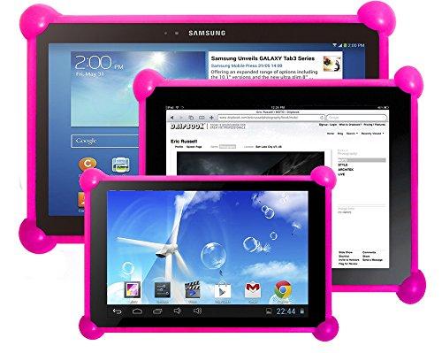 """Preisvergleich Produktbild Silikon hülle Tablet, silikon Schutzhülle, Tablet PC Tasche, Schale Bumper, Silikon Stoßfest, Kompatibel mit Tablet PC jeder Größe. PC Tabletten ideal für Mantel Kinder und Erwachsene. Der gleiche hülle für alle Größen von Tabletten PC als 7 """", 8"""", 9"""", 9.7"""", 10.1"""", iPad 2/3/4/ , Ipad Air, Ipad Mini, Galaxy Tab/Tab S/Note Pro, Nexus 7, Kindle Fire HD 6/7 Fire HDX 7/8.9 Fire 2, usw. Kompatibel mit allen Tablet-PC-Markt. (Fuchsie)"""