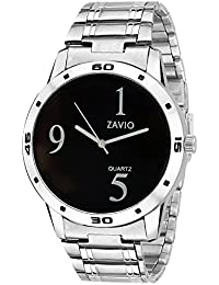 ZAVIO Black&White Dial Metal Belt Analog Watch For Boys