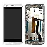 imponic HTC Desire 626 626G 626W kompatibel LCD Display mit Rahmen Touch Screen Glas Scheibe Kompletteinheit (weiß)