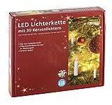 Idena 38192 - LED Kerzenlichterkette, 30er warm weiß, für innen