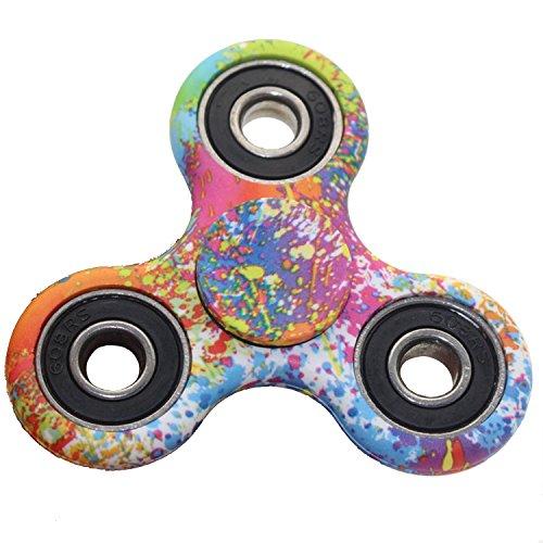 Preisvergleich Produktbild cooshional Fidget Toys Anti Stress Hand Spinner Dreifach Finger Spielzeug LED Leuchtende für Kinder und Erwachsene Geschenke Bunt