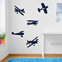 Aeroplane Airplane Plane Set Wall Decorations Window Stickers Wall Decor Wall Stickers Wall Art Wall Decals Stickers Wall Decal Decals Mural Décor Diy Deco Removable Wall Decals Colorful Stickers