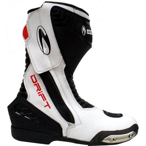 Richa Drift Hipora Motorrad-Stiefel - wasserdicht - Sport/Racing - Weiß - EU42