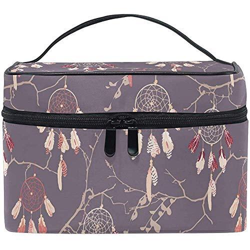 Bolsas de cosméticos Atrapasueños en Ramas Desnudas Organizador de Maquillaje para Viajes Grandes Bolsa de artículos de tocador Bolsa de Lavado 9x6.5x6.2 Pulgadas
