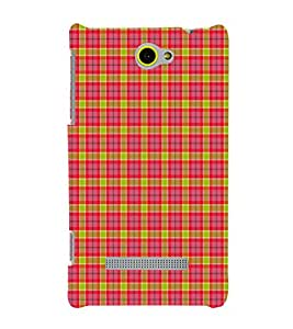 EPICCASE red squares Mobile Back Case Cover For HTC One M10 (Designer Case)