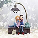 Vosarea Mini Resin Earphones Couple Lamp Living Room Bedroom Decorations Crafts Gifts for Home Lovers Party Valentines Day (C)