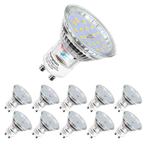 Ampoules LED GU10, 5W équivalent 60W, 600lm, Blanc Neutre 4500K, 120° Larges Faisceaux, Ampoules LED Spot, Lot de 10
