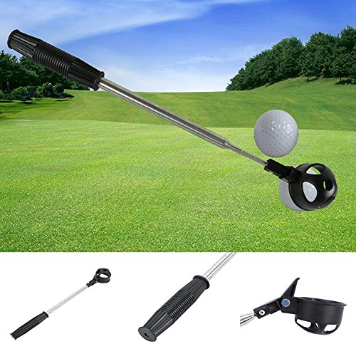pushfocourag Outdoor Sport Teleskop Edelstahl Schaft Golf Ball Pick up Retriever Scoop Golf 8 Antenne Edelstahl Brecheisen Golf Golf Ball Cricket Golf Produkte