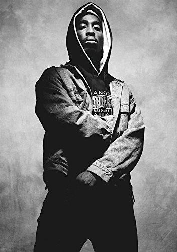 Tupac Shakur 2Pac gamuza tela rollo pared Poster