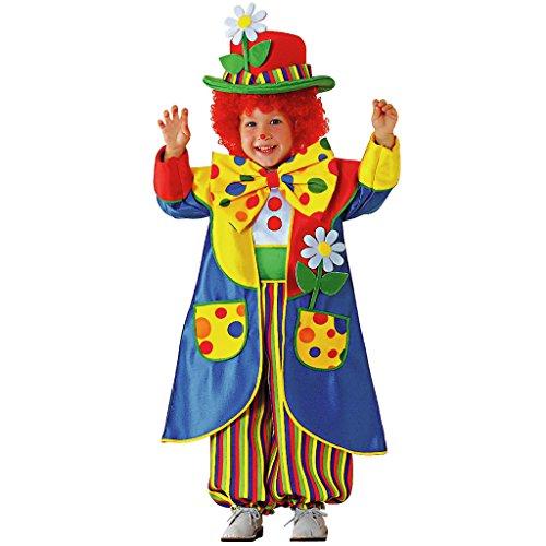 Chiber - Clown-Kostüm Kinder Pantomimo Clownskostüm (Größe -