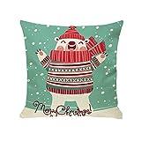 ❤JUSTSELL Weihnachten ➤ Schneeflocke Weihnachtsbaum Muster Kissenbezug(45cm*45cm) Zierkissenbezüge Schlafsofa Home Deco Dekorationskissen Kissenbezug (Kissen ist Nicht im Preis inbegriffen)