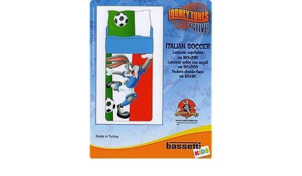 Bassetti Looney Tunes Lenzuola Copriletto.Lenzuola Bassetti Looney Tunes Lenzuolo Copriletto Soccer Bugs Daffy