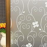 DUOFIRE Pellicola per Finestre Vetri Pellicola Privacy Pellicola Decorativa Pellicola Anti-UV DP014W (60cm X 200cm)