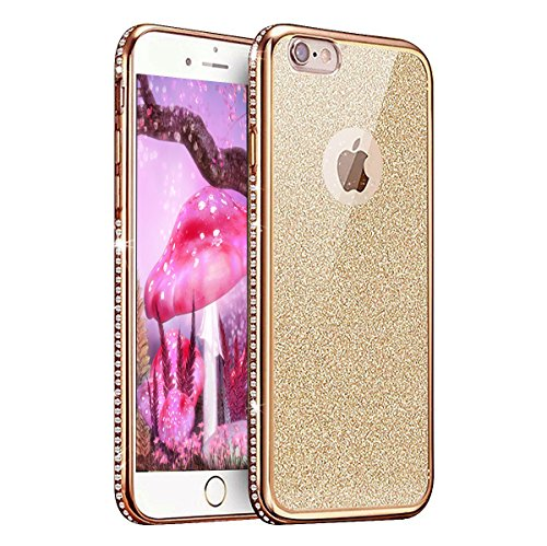 iPhone 7 Coque Silicone,iPhone 7 Coque Transparente,iPhone 7 Coque Crystal Bling Bling,iPhone 7 Coque Ultra-Mince Etui Housse avec Bling Diamant,iPhone 7 Silicone Case Slim Soft Gel Cover,EMAXELERS iP TPU 3