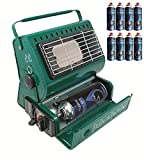Topflame 1.3kW Portable Gas Heater Camping Fishing Outdoor + 8 Butane Gas Refills