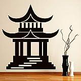 zqyjhkou Japanischen Tempel Religion Wandaufkleber Dekoration Zubehör Für Wohnzimmer Vinyl...