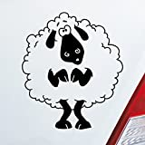 Auto Aufkleber in Deiner Wunschfarbe Süßes Schaf für Shaun Das Schaf Fans Doof Fun Dub 10x11,4 cm Autoaufkleber Sticker