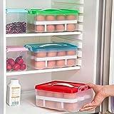 #5: Vepson Egg Storage Basket Double Layer Refrigerator 24 Eggs Airtight Storage Container Plastic Box