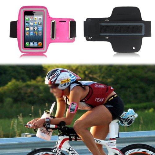 Buona qualità Slim Fit Hot Pink Correre copertura della cassa del bracciale per il iPhone 4S / 4