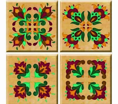 TileStix Renaissance 4schälen und Stick Tile Décor