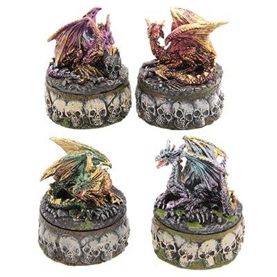 Dark Legends Dragon and Skull Trinket Box