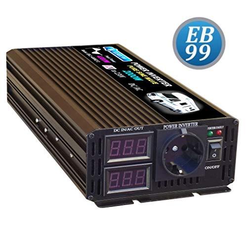 ELBOX99 Inversor 2000W 4000W 12V Convertidor