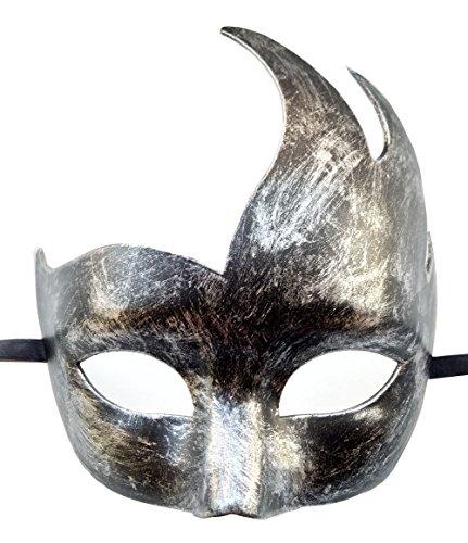 Coolwife Herren Venezianische Maskerade Maske Klassische Design Prom Mardi Gras Masken (Antikes Silber ()