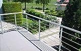Geländer-Zusatz-Set in Aluminium eloxiert zur Bodenmontage mit Kugelring