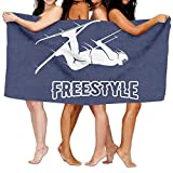 Rghkjlp Unisex Freestyle Skier Beach Towels Washcloths Bath Towels for Teen Girls Adults Travel Towel Pool and Gym Use