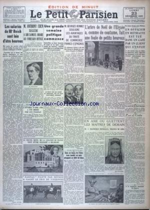 PETIT PARISIEN EDITION DE MINUIT (LE) [No 21482] du 23/12/1935