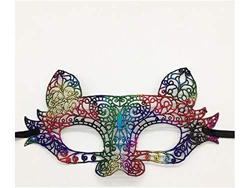 e Blumen Kreative Maskerade Lace Cutout Maske venezianische Maske für Weihnachtsfeier (Bronze) Hochzeitssträuße (Farbe : Colorful, Größe : 23X13X2cm) ()