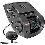 REXING V1P Dashcam HD 1080P double avant et arrière à vision nocturne Angle de vision à 260degrés Idéal pour les tableaux de bord de voiture